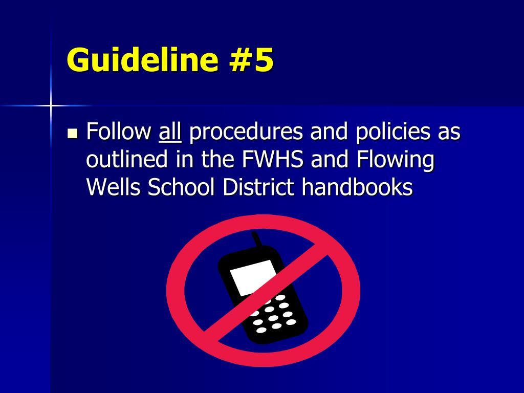 Guideline #5