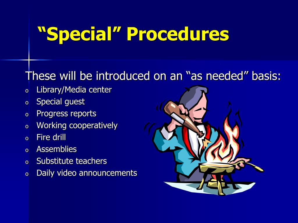 """""""Special"""" Procedures"""