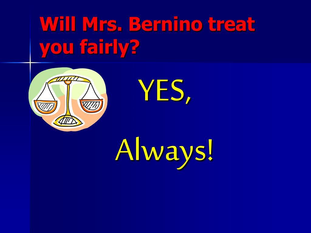 Will Mrs.