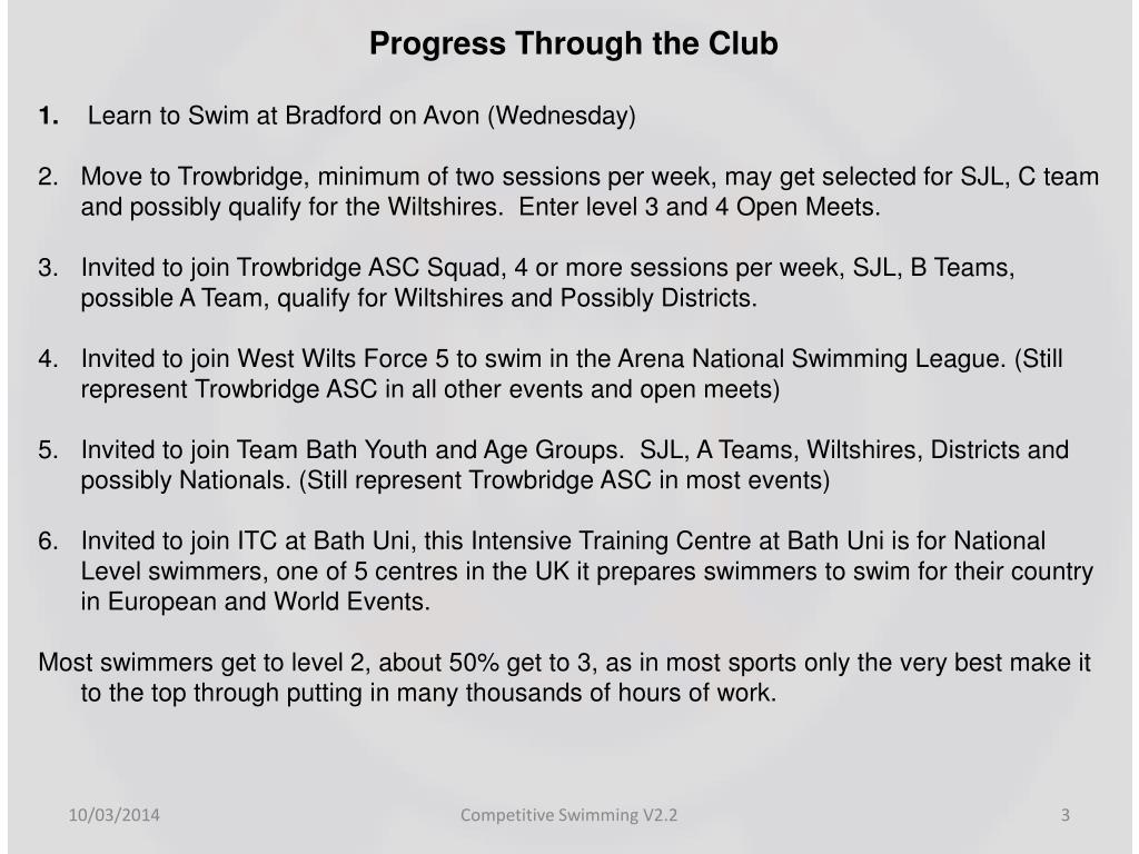 Progress Through the Club