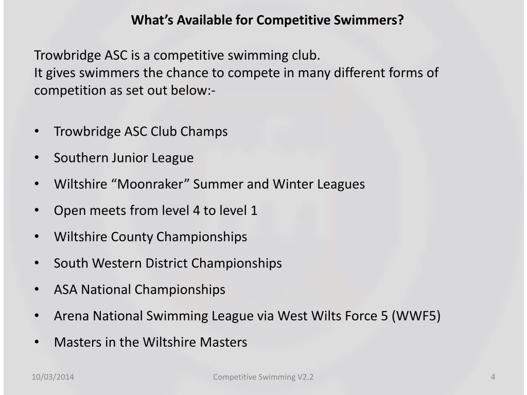 What's Available for Competitive Swimmers?