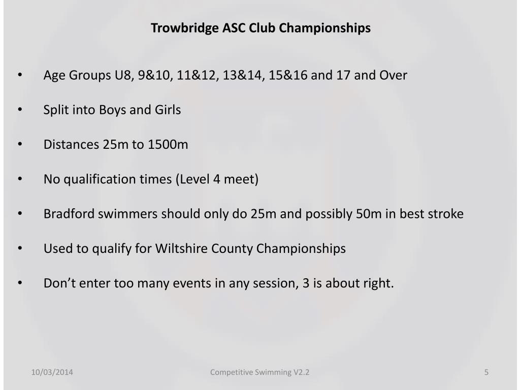 Trowbridge ASC Club Championships