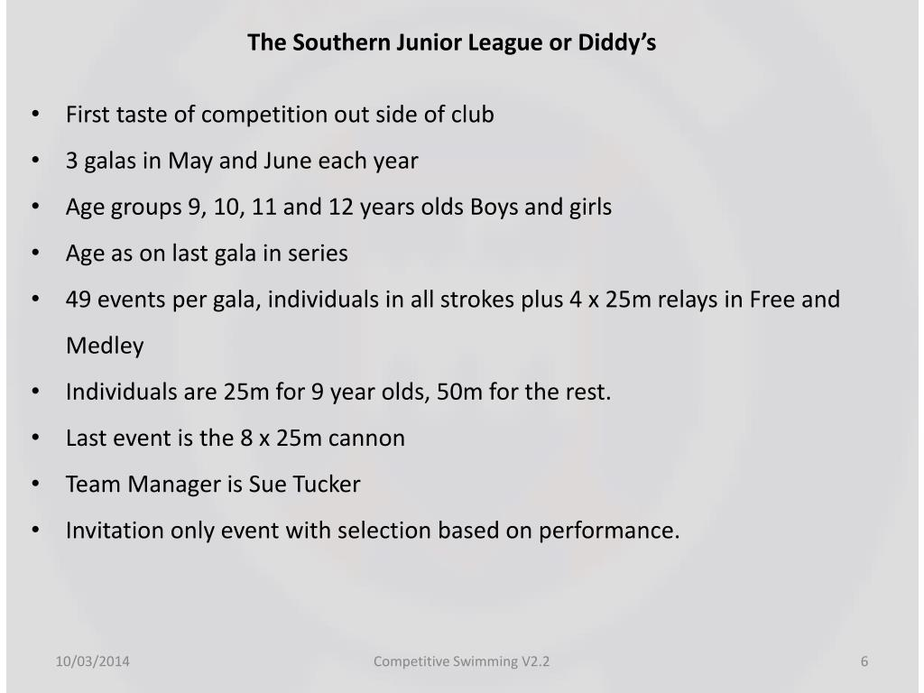 The Southern Junior League or Diddy's