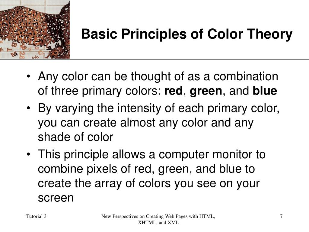 Basic Principles of Color Theory