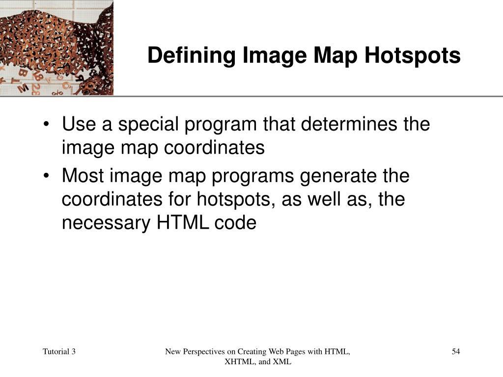 Defining Image Map Hotspots
