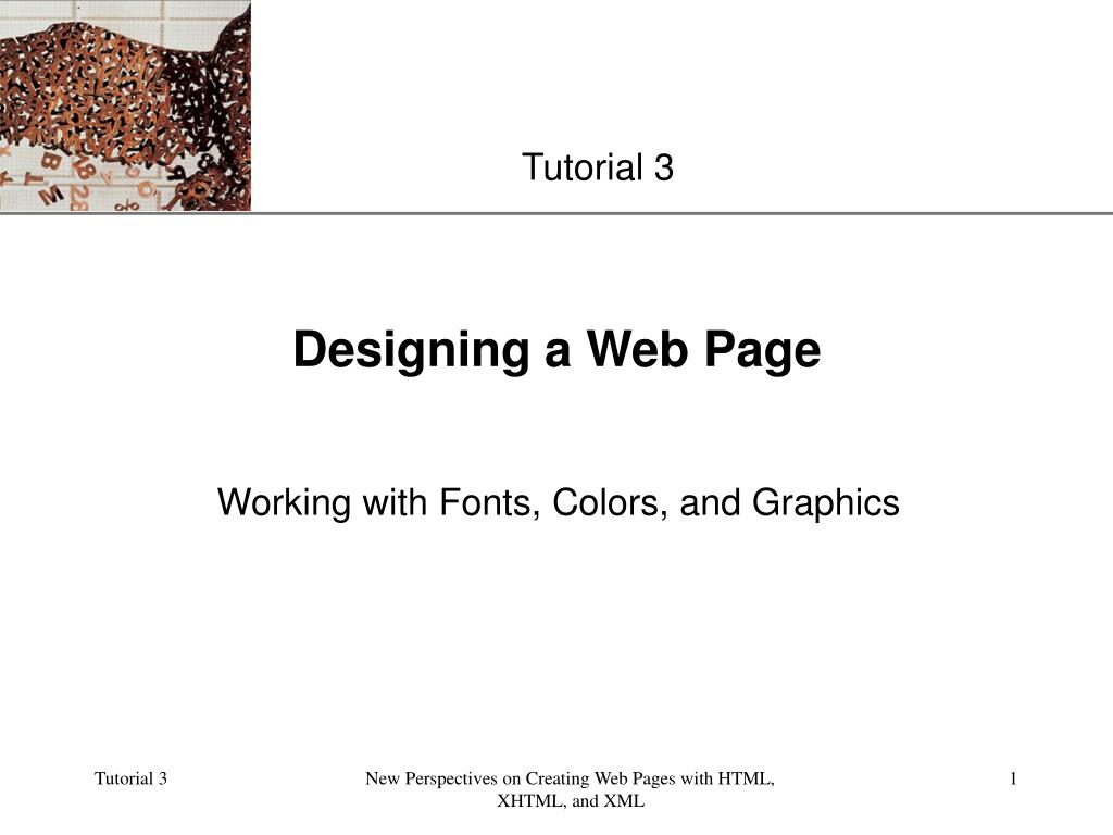 Designing a Web Page