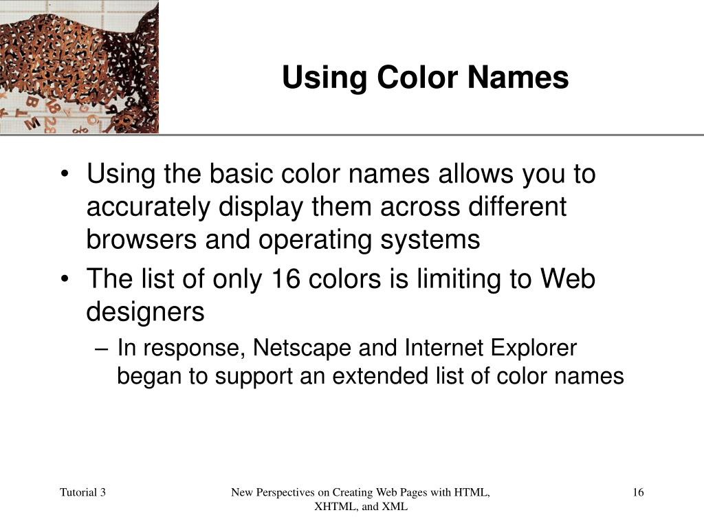 Using Color Names