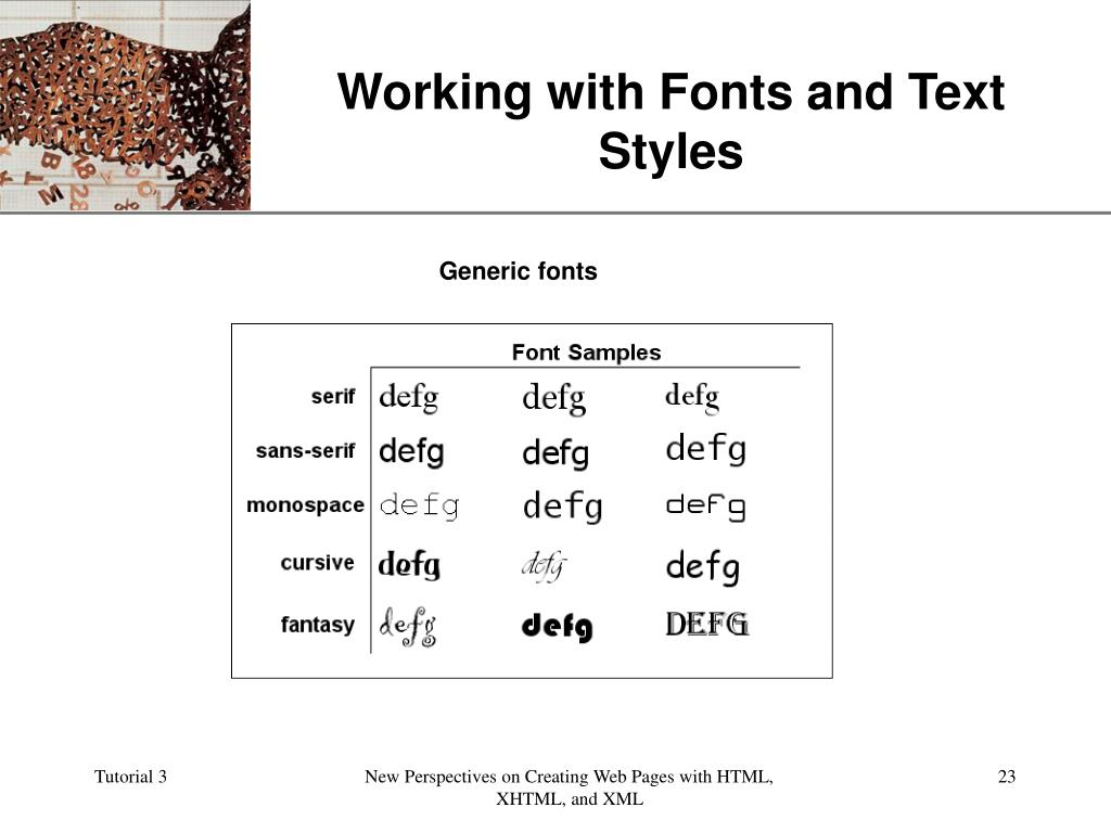 Working with Fonts and Text Styles