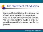aim statement introduction