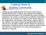 creating home building community