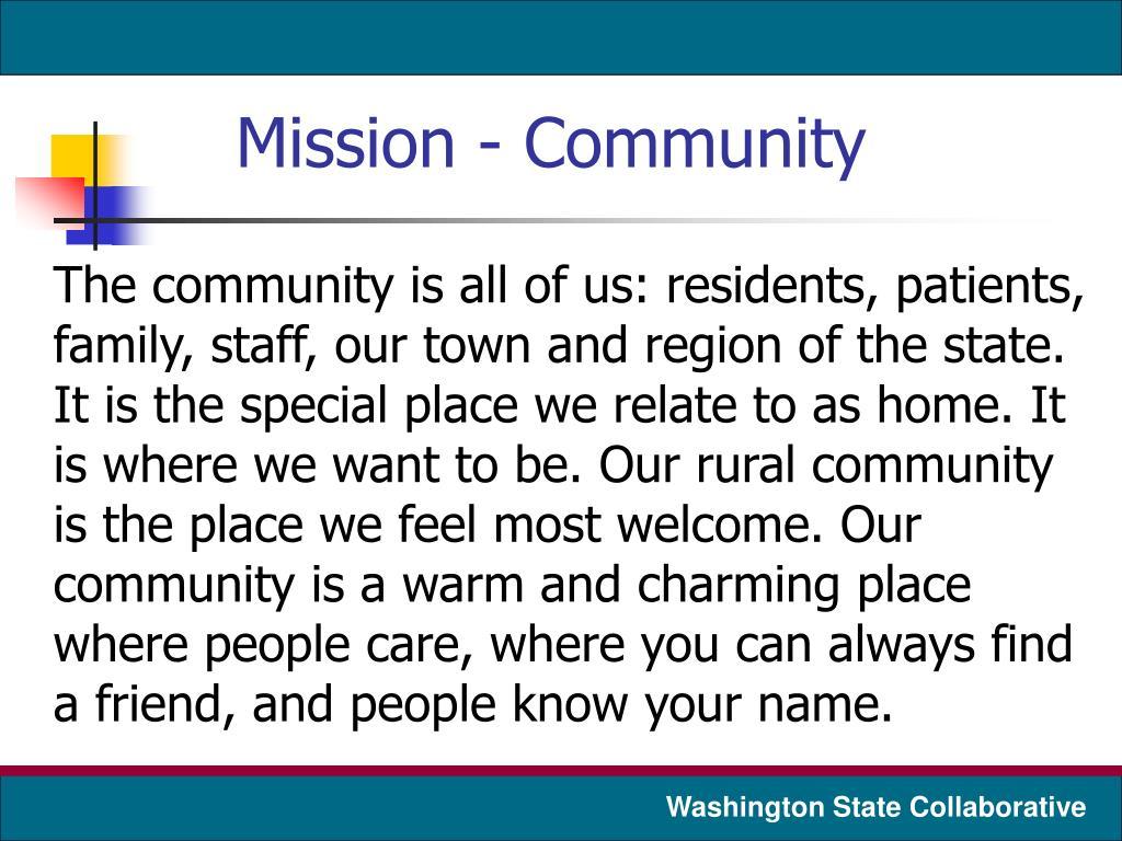 Mission - Community