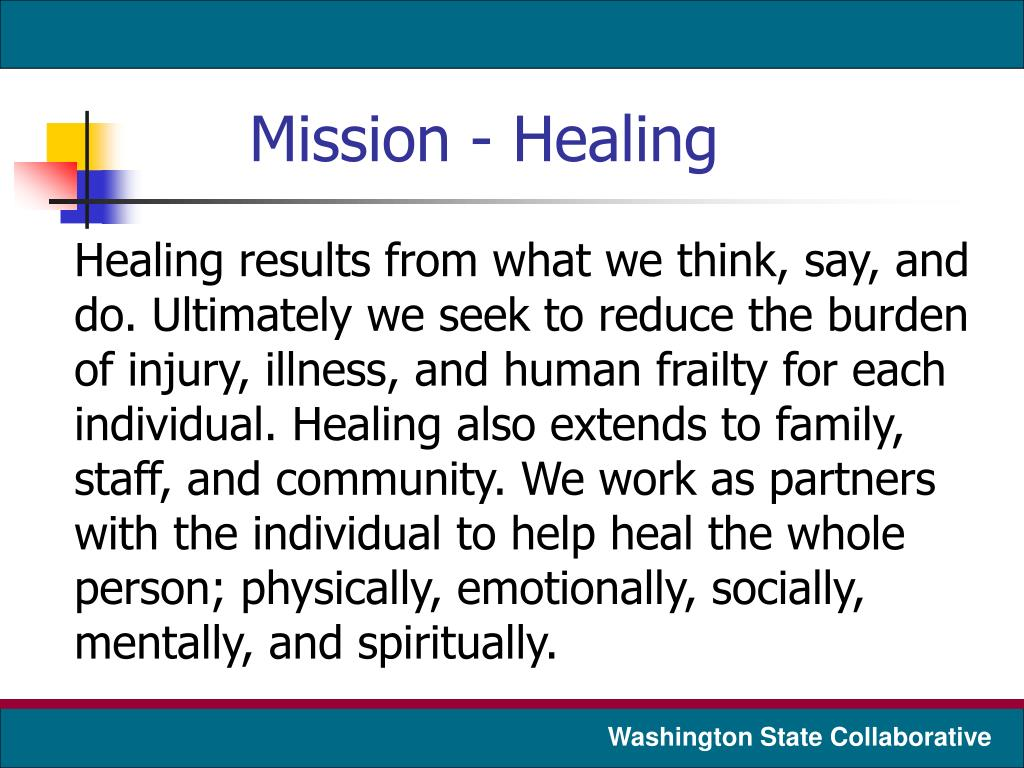 Mission - Healing