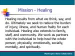 mission healing