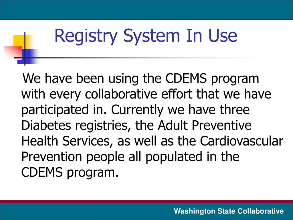 Registry System In Use