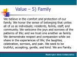 value 5 family