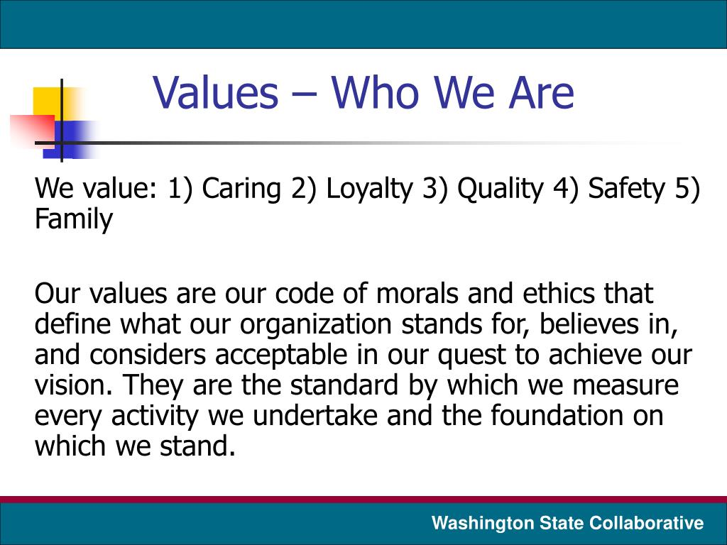 Values – Who We Are