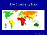 life expectancy map