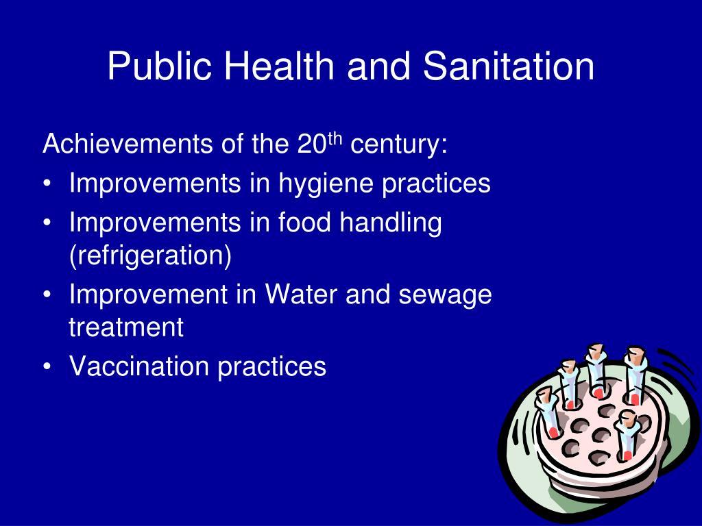 Public Health and Sanitation