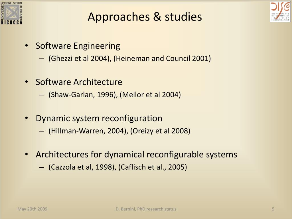 Approaches & studies