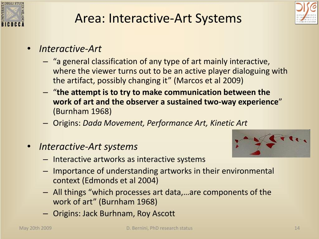 Area: Interactive-Art Systems
