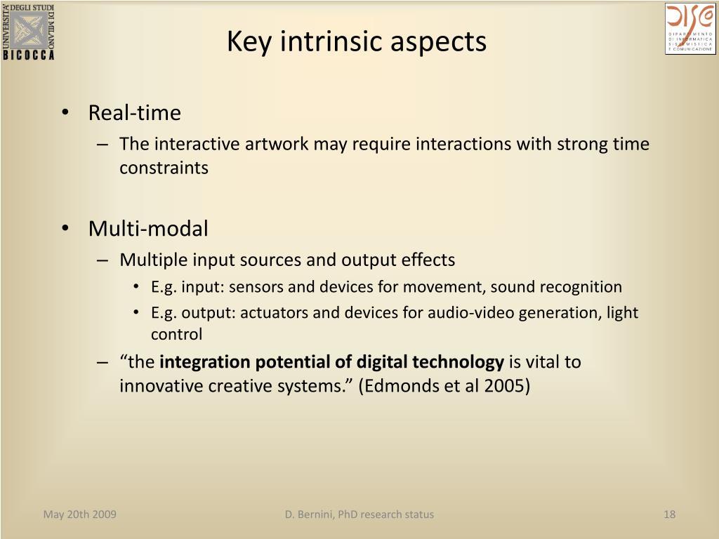 Key intrinsic aspects