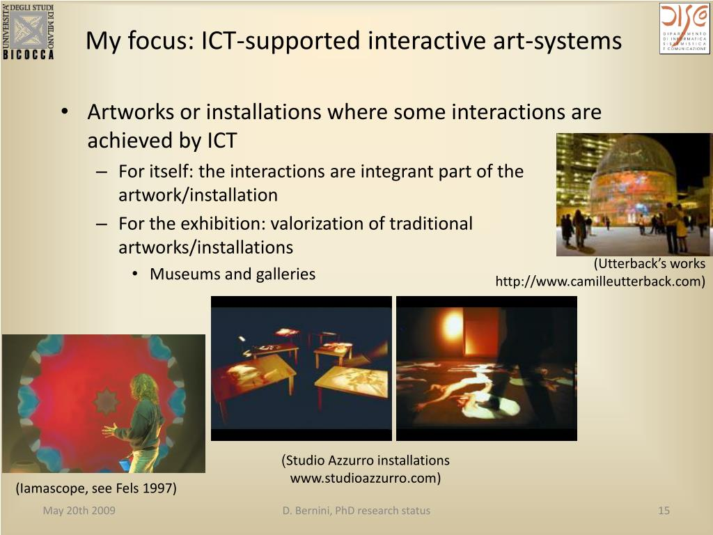 My focus: ICT-supported interactive art-systems