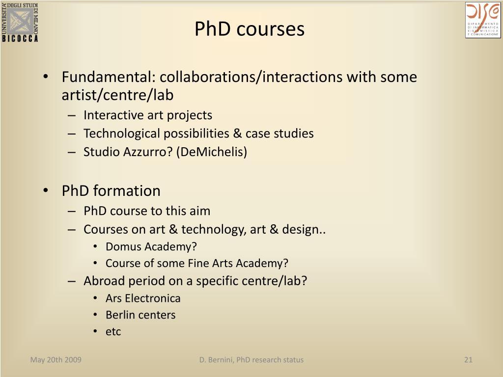 PhD courses