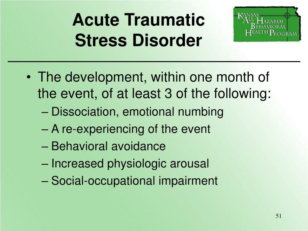 Acute Traumatic