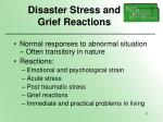 disaster stress and grief reactions