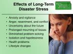 effects of long term disaster stress