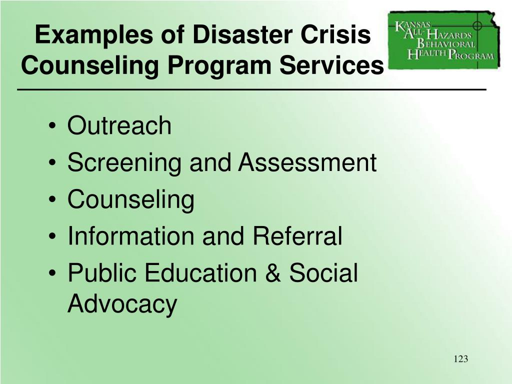 Examples of Disaster Crisis