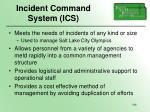 incident command system ics156