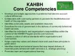 kahbh core competencies11