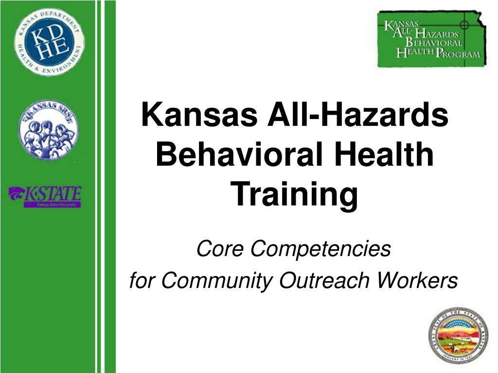 kansas all hazards behavioral health training