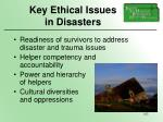 key ethical issues in disasters