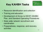 key kahbh tasks