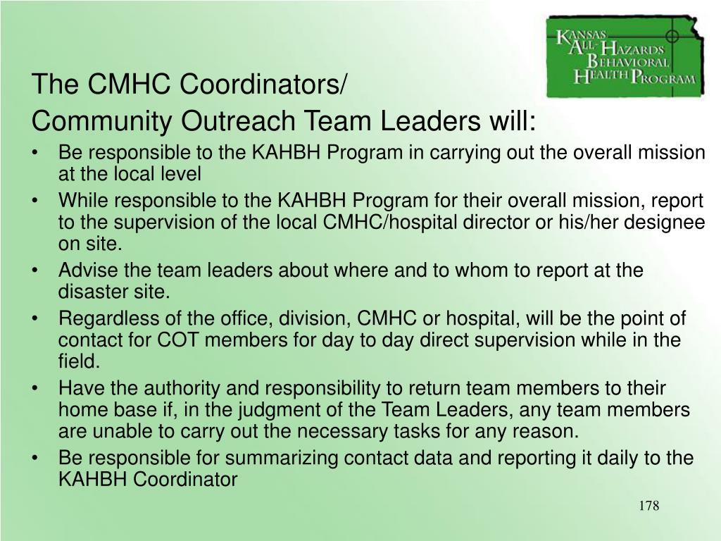 The CMHC Coordinators/