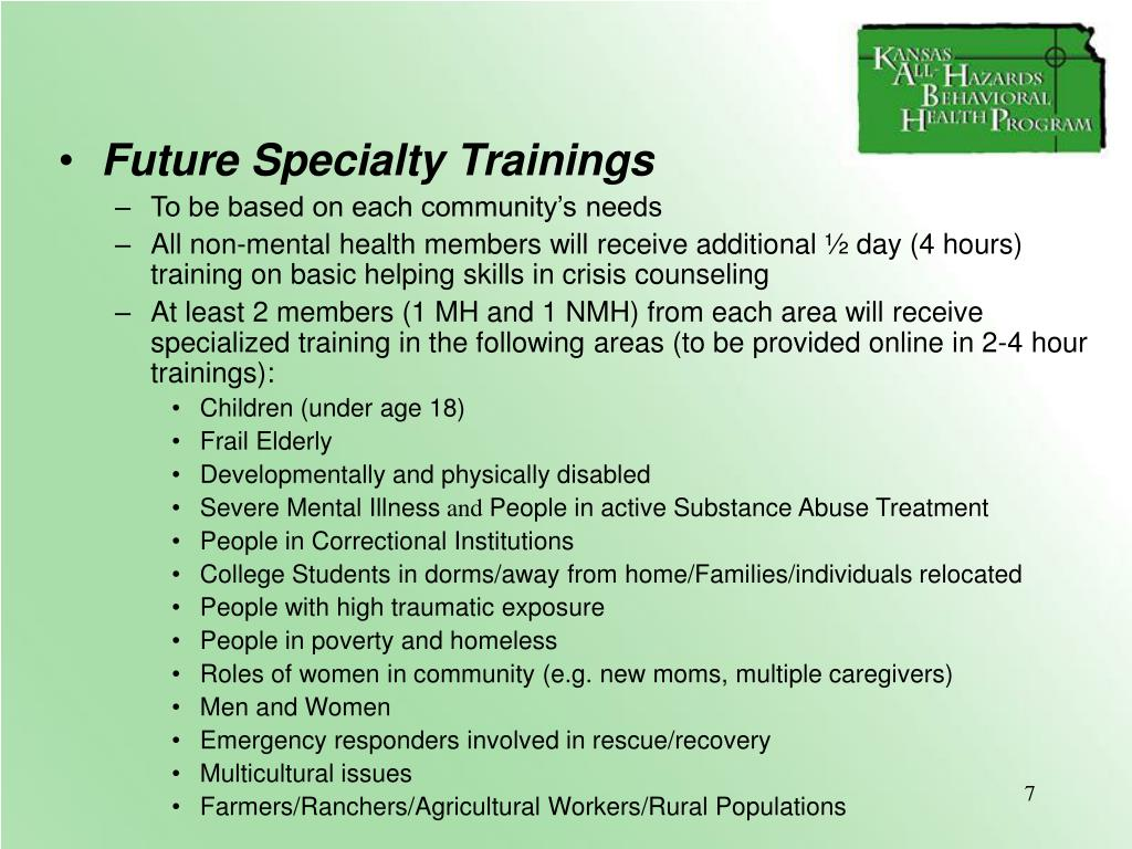 Future Specialty Trainings