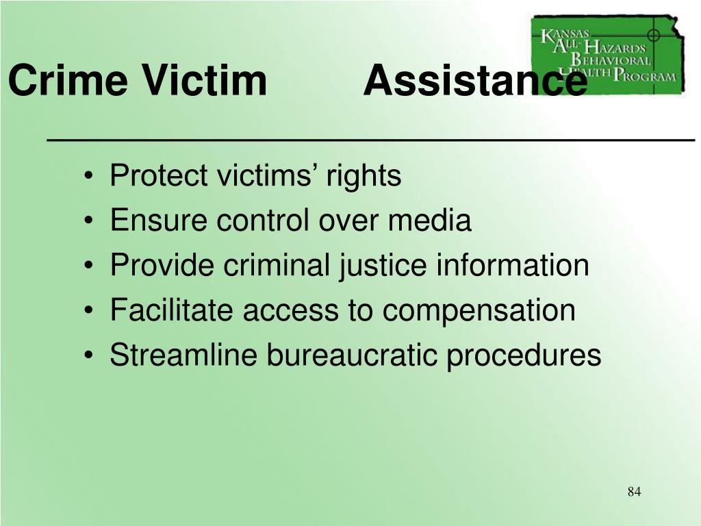 Crime Victim        Assistance
