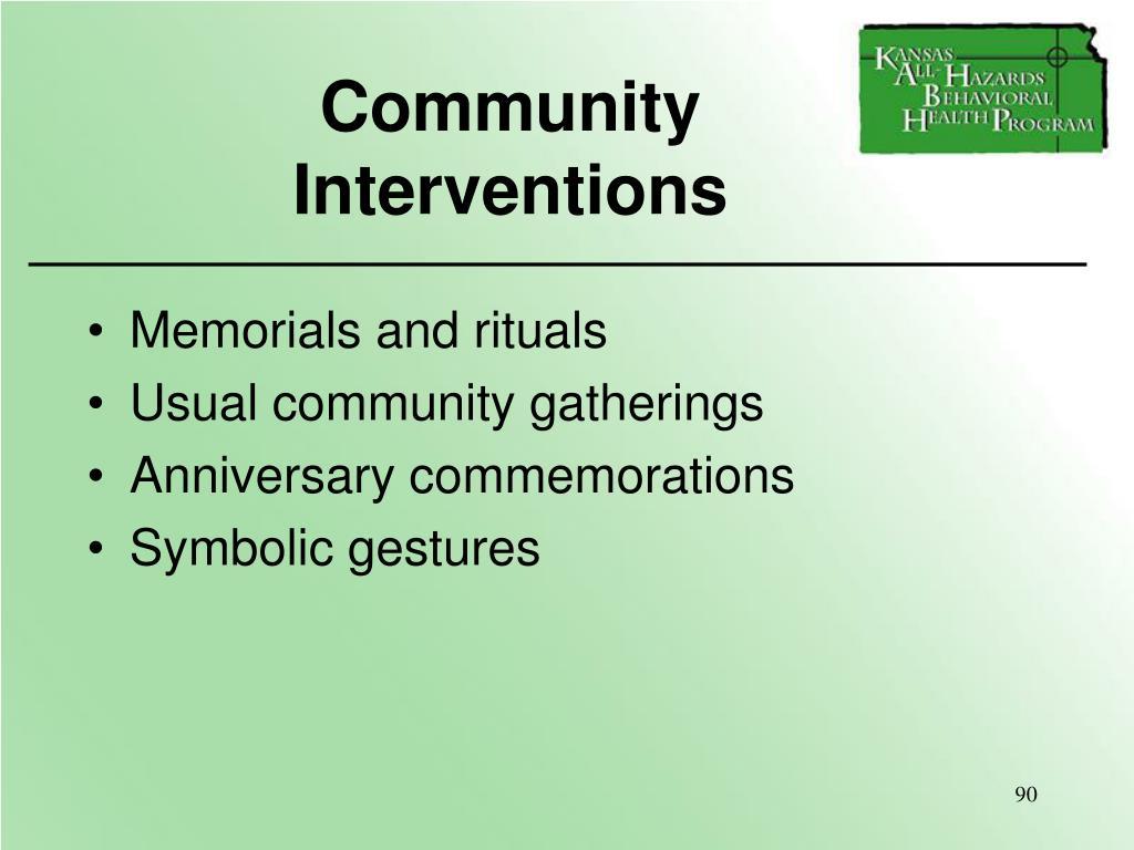 Community               Interventions