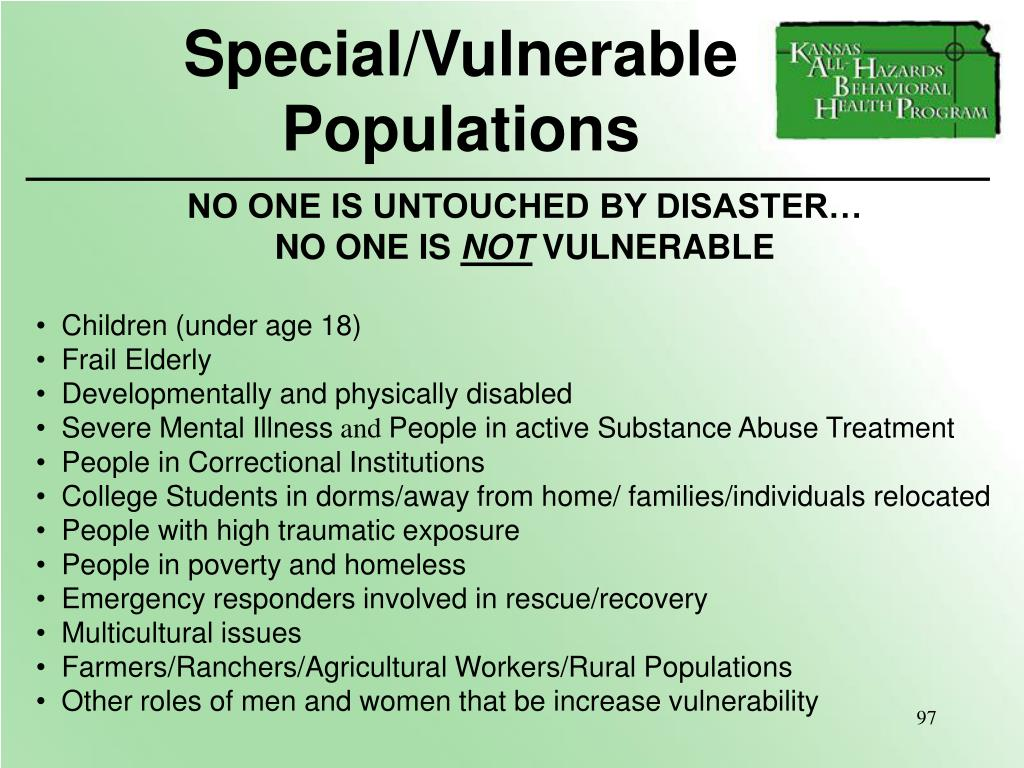 Special/Vulnerable Populations