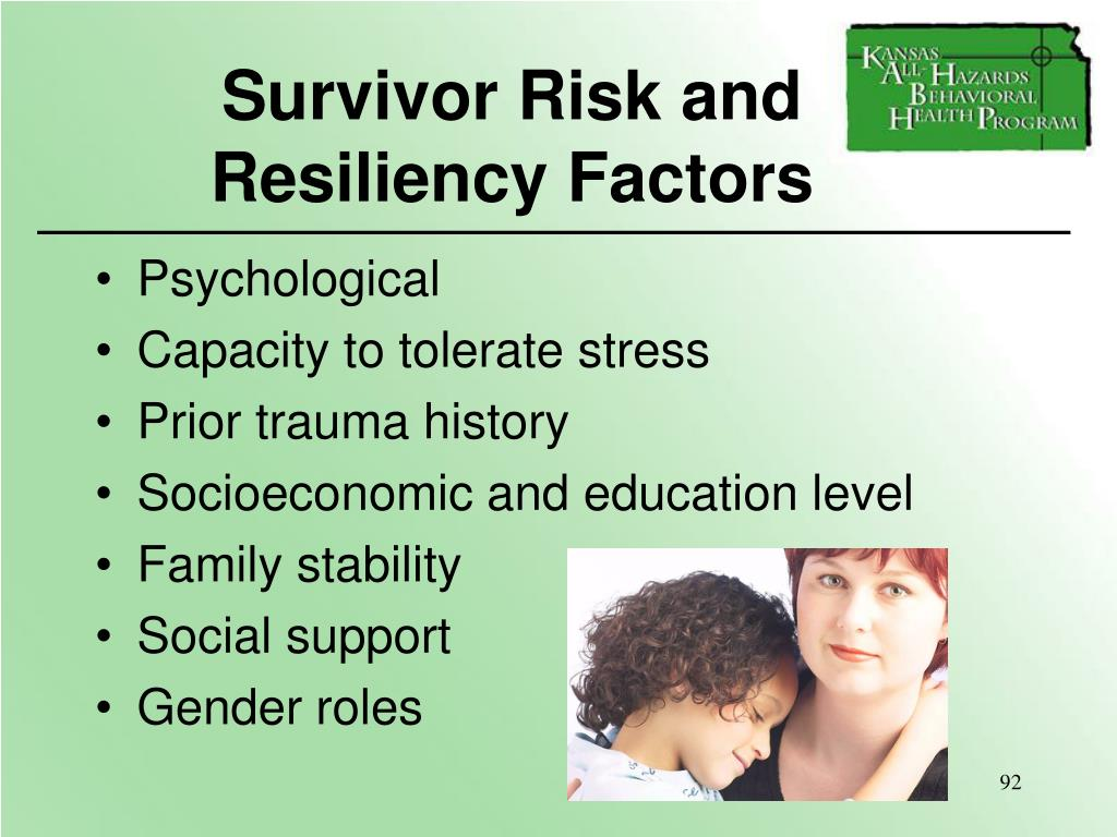 Survivor Risk and Resiliency Factors