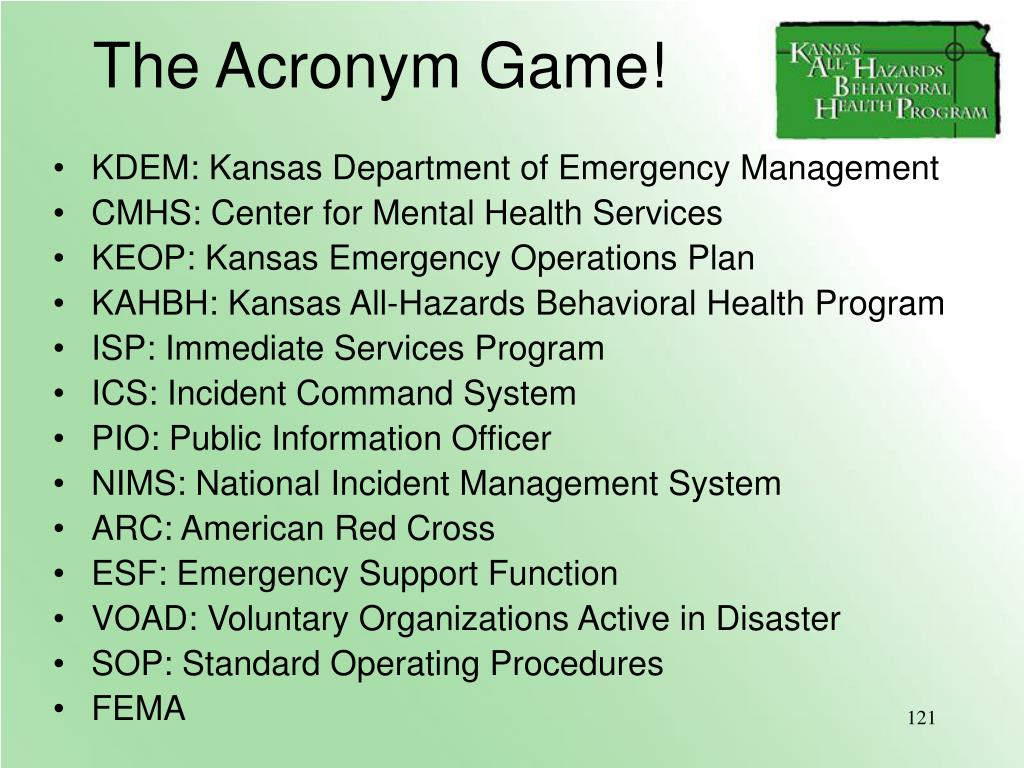 The Acronym Game!