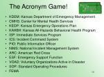 the acronym game121