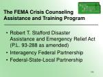 the fema crisis counseling assistance and training program