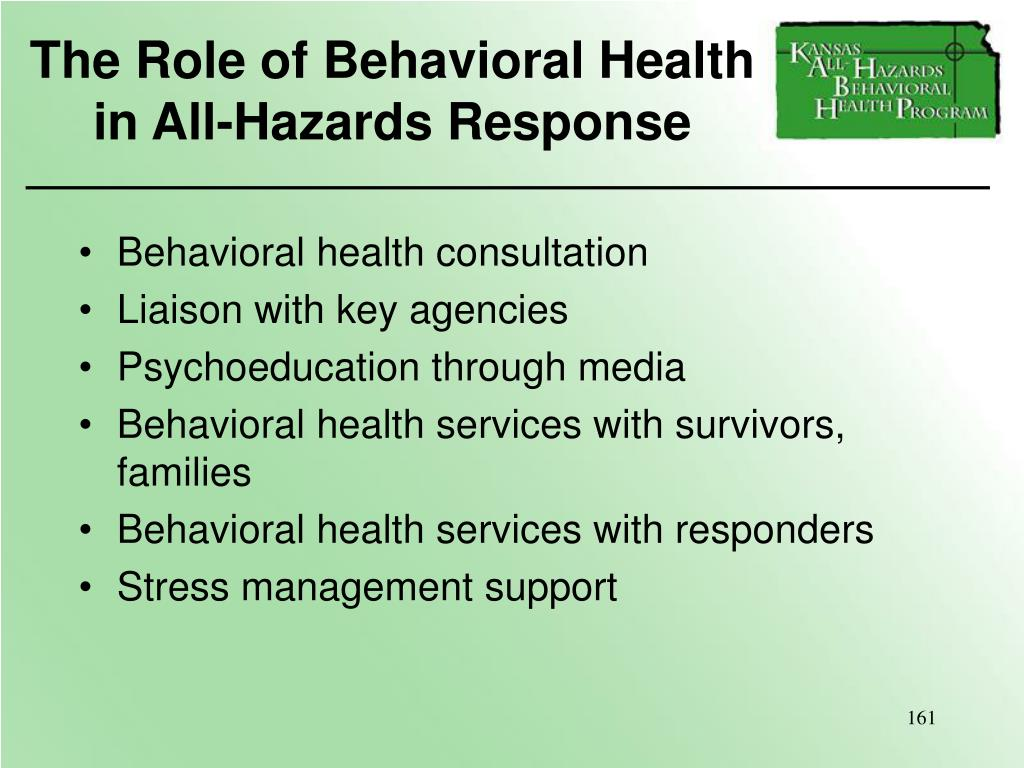 The Role of Behavioral Health
