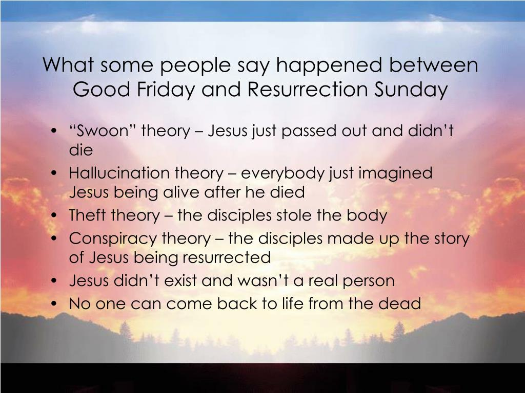 What some people say happened between