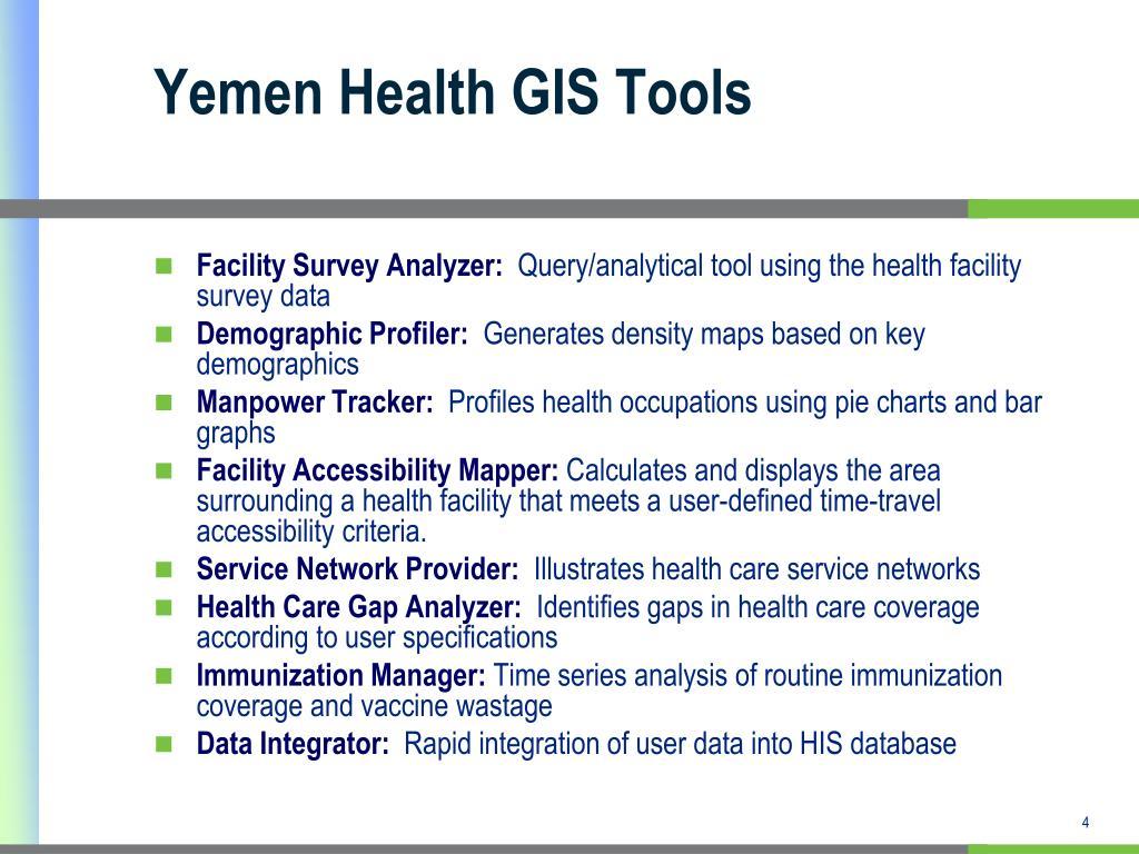 Yemen Health GIS Tools