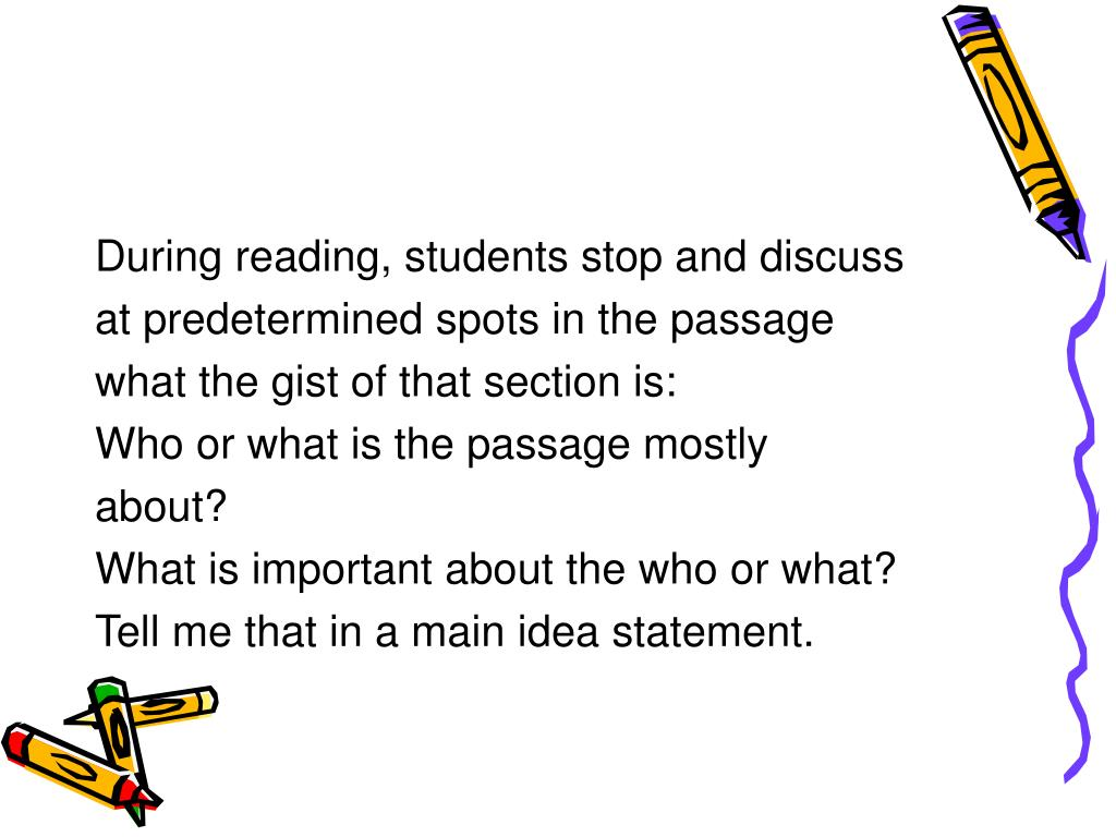 During reading, students stop and discuss