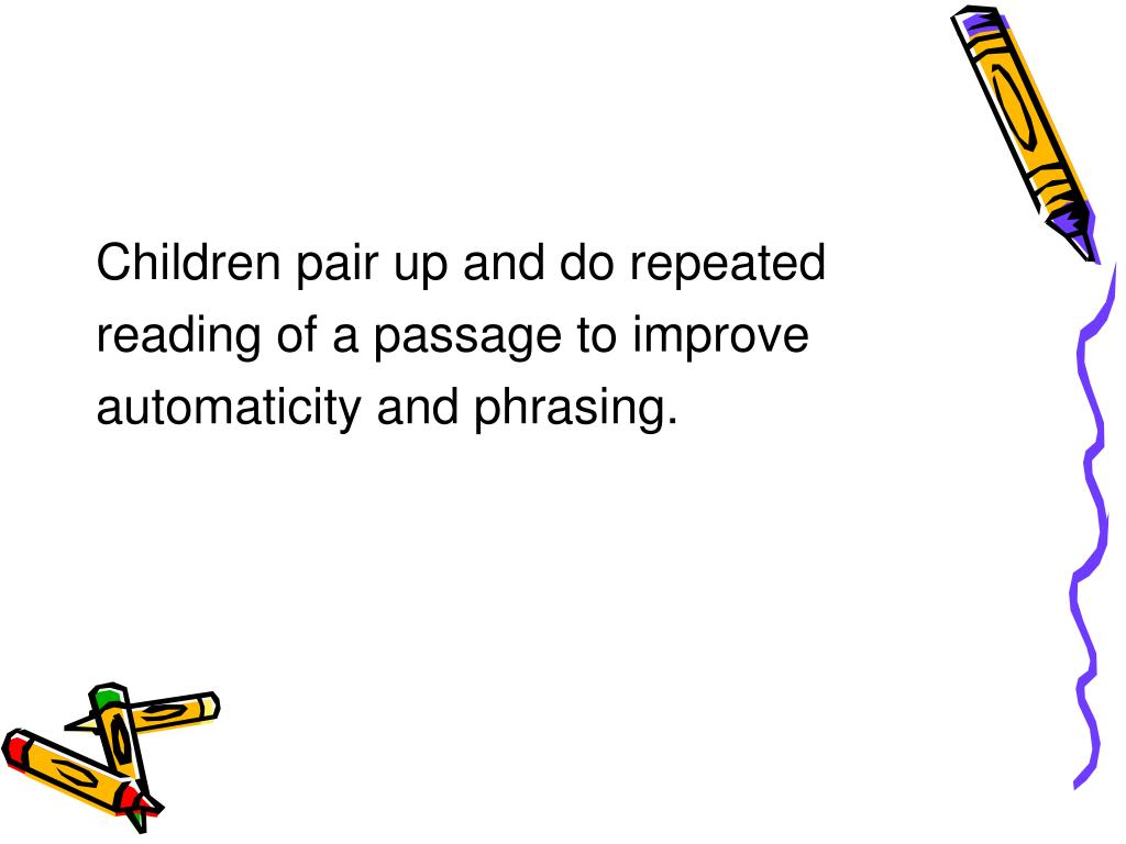 Children pair up and do repeated